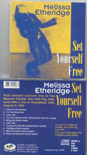 Melissa Etheridge - Set Yourself Free ( Live at Beacon Theater & Woodstock , USA , June & August 1994 )