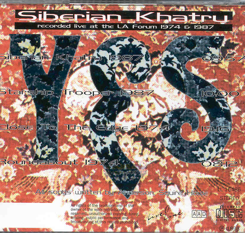 Yes - Siberian Khatru ( Live TWICE at the L A  Forum 1974 AND 1987 )