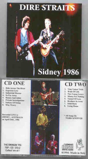 Dire Straits - Sidney 1986  ( Swingin Pig ) ( 2 CD!!!!! SET ) ( Sydney , Australia , April 26th , 1986 )