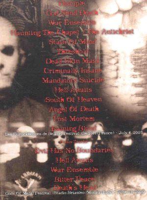 DVD Slayer - Post Mortem Reelfort  ( France , July 2003 Plus Bonustracks )