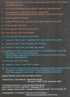 DVD Small-Faces - Color Us Pop ( TV Appearances & Promos 1965 - 1968 )