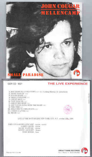 John Cougar Mellencamp - Small Paradise ( Bottom Line , New York City , Oct 10th , 1980 )( Great Dane Recs )