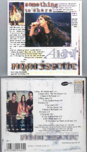 Alanis Morissette - Something To Share ( Live in New Orleans 1996 plus Bonustracks ) ( KTS )