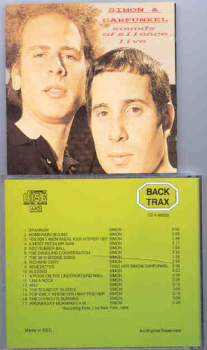 Simon & Garfunkel - Sounds Of Silence Live  ( Backtrax )