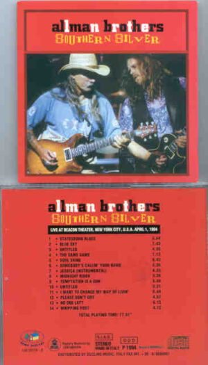 Allman Brothers Band - Southern Silver ( New York City , April 1st , 1994 )