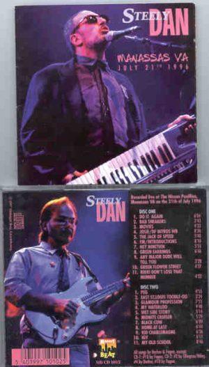 Steely Dan - Manassas , VA  , July 21st , 1996  ( 2 CD!!!!! set ) ( Midnight Beat )