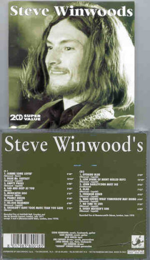 Traffic - Steve Winwood's Live 70/71 ( Still Alive )( 2 CD!!!!! SET ) ( Fairfield Hall 1971 + Hammersmith , London , June 1970 )