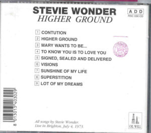 Stevie Wonder - Higher Ground ( Live in Brighton , July 4th , 1973 ) ( Oil Well )