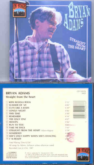 Bryan Adams - Straight From The Heart ( Live In The USA 1987 ) ( On Stage Recs )