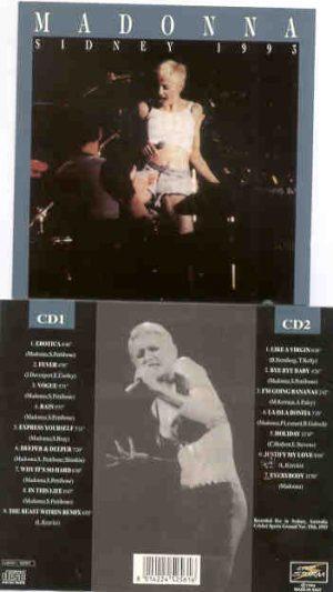 Madonna - Sydney 1993 ( Live Storm ) ( 2 CD!!!!! SET ) ( Sydney Australia , November 19th , 1993 )