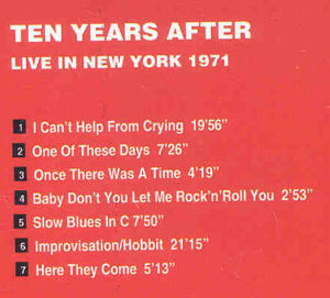 Ten Years After - Live In New York 1971 ( Armando Curcio Editore )