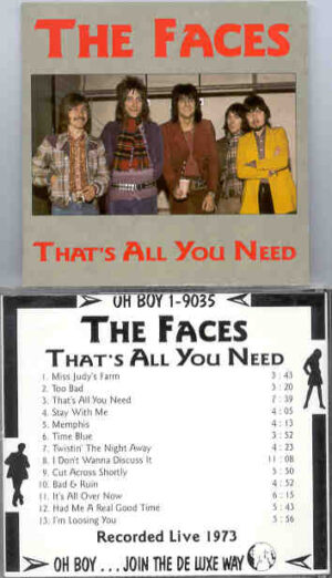 The Face / Rod Stewart - That's All You Need ( Oh Boy Recs ) ( Recorded LIVE in 1973 )