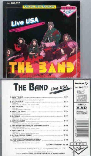 The Band - Live USA ( Washington , December 12th , 1976 )