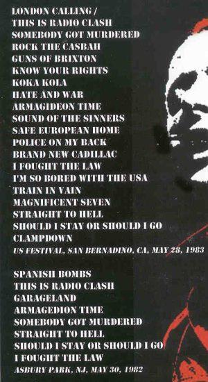 DVD The Clash - Bored In The USA ( US Fest , San Bernardino , CA , May 28th , 1983 )