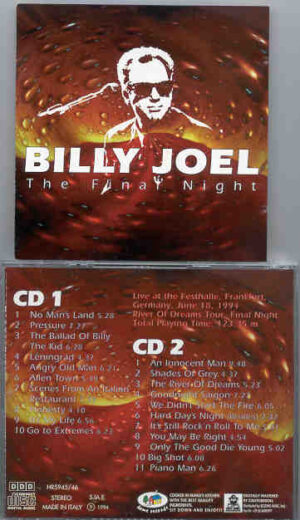 Billy Joel - The Final Night ( Festhalle Frankfurt Germany , June 18th , 1994 )