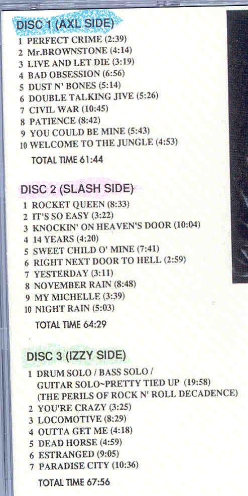 Guns N' Roses - The Last American Hero ( 3 CD SET )