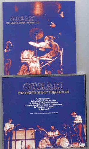 Cream - The Lights Shinning Through On ( CREAM at Chicago Coliseum , Illinois , USA , October 13th , 1968 )