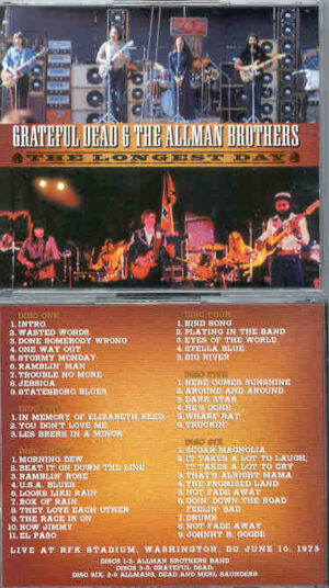 Allman Brothers Band - The Longest Days ( 6 CD SET ) ( With Grateful Dead at RFK Stadium , DC , June 10th , 1973 )