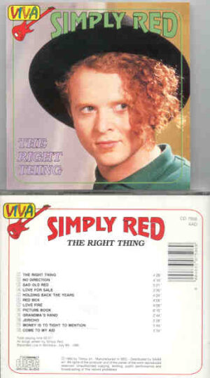 Simply Red - The Right Thing  ( Montreaux , July 8th 1986 )