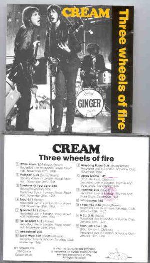 Cream - Three Wheels Of Fire ( Swingin' Pig ) ( Albert Hall 1968 plus London '66 & '68 )