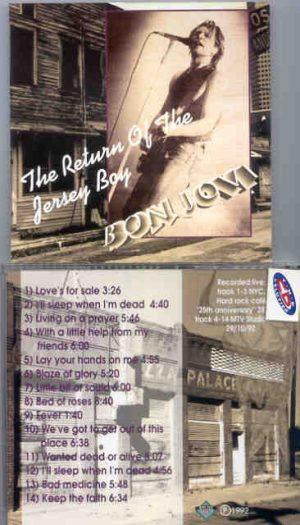Bon Jovi - The Return Of The Jersey Boy ( New York City 1992 - 1993 )