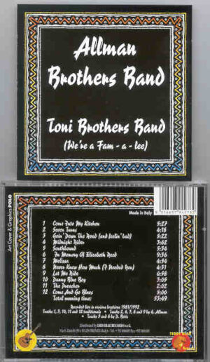 Allman Brothers Band - Toni Brothers Band ( We're a Fam-a-lee ) ( Teddy Bear )