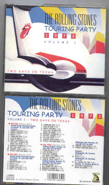 Rolling Stones - Touring Party 1972 Vol  1 ( 3 CD SET )