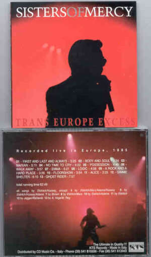 The Sisters Of Mercy - Trans Euro Excess ( Live in Europe 1985 ) ( KTS )