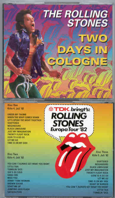 664a74be Rolling Stones - Two Days In Cologne ( 3 CD SET ) ( Germany , July ...