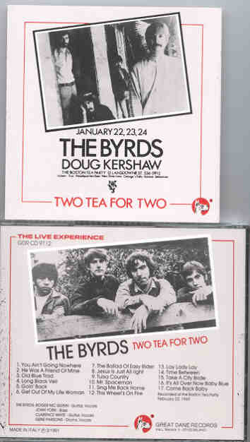 The Byrds - Two Tea For Two ( Great Dane Recs )
