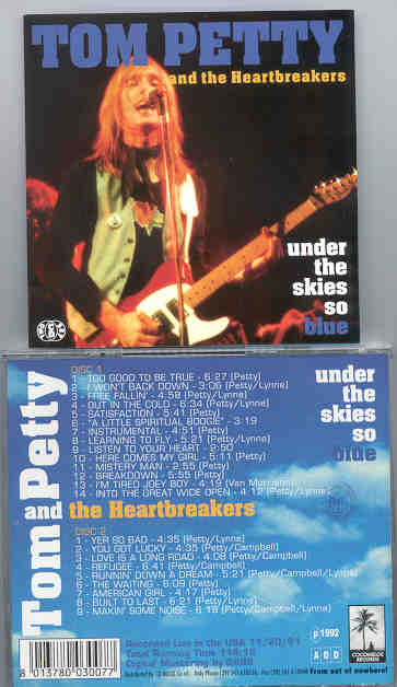 Tom Petty - Under The Sky So Blue ( Live In USA , November 20th , 1991 ) ( 2 CD!!!!! set )