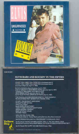 Elvis Presley - The Unsurpassed Masters  Vol. 1  ( Rare & Rockin' in the 50's ) ( Yellow Dog )