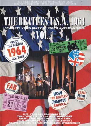 DVD The Beatles - The Beatles USA 1964 Vol 1 ( 4 DVD SET ) ( The Most Complete Video Diary Of The 1964 American Tour 1964 )