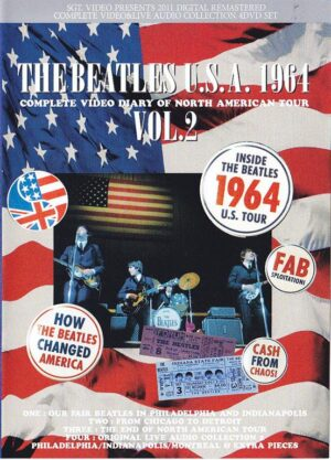 DVD The Beatles - The Beatles USA 1964 Vol 2 ( 4 DVD SET ) ( The Most Complete Video Diary Of The 1964 American Tour 1964 )