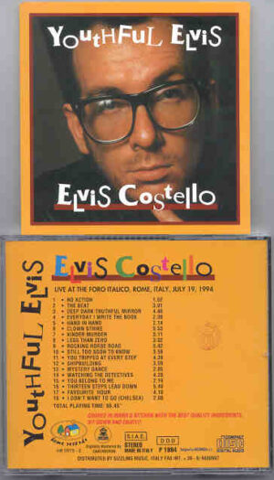Elvis Costello - Youthful Elvis ( Live at The Foro Italico , Rome , Italy , July 19th , 1994 )