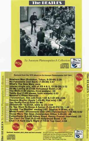 The Beatles - Ze Anonnym Plattenspieler : A Collection ( 2011 Extract Factory )