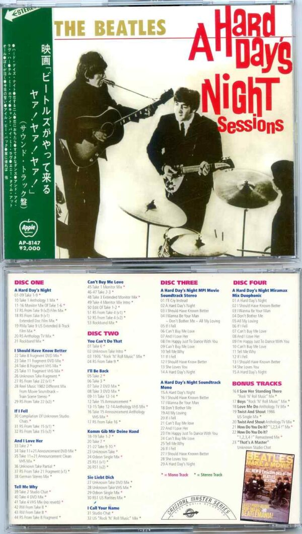 The Beatles – A Hard Days Night Sessions (4 CDs)