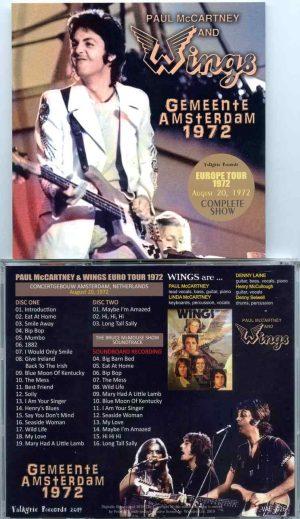 Paul McCartney & Wings Femeente Amsterdam 1972 (2 CD) - Valkyrie Records