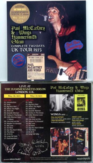 Paul McCartney & Wings – Hammersmith Odeon Complete Two Days UK Tour 1973 (2 CD)