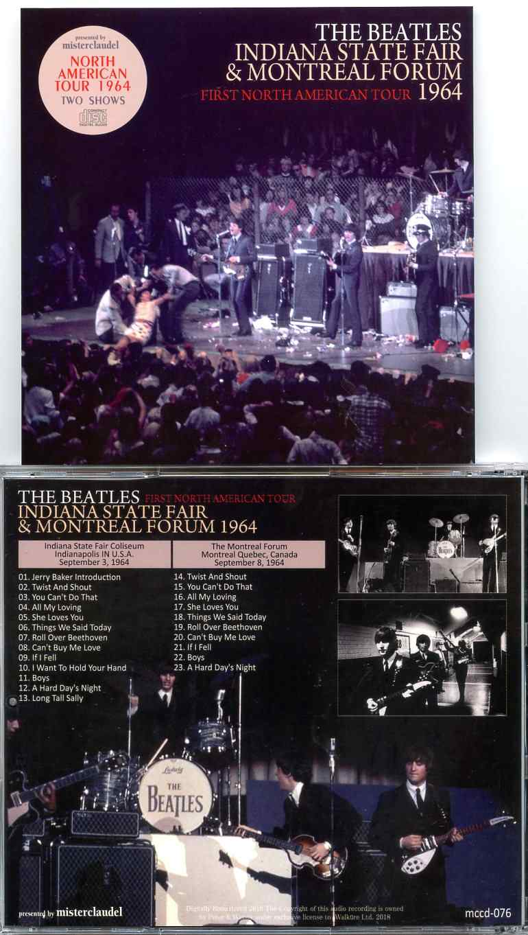 The Beatles – Indiana State Fair & Montreal Forum – First North American  Tour 1964 - Misterclaudel