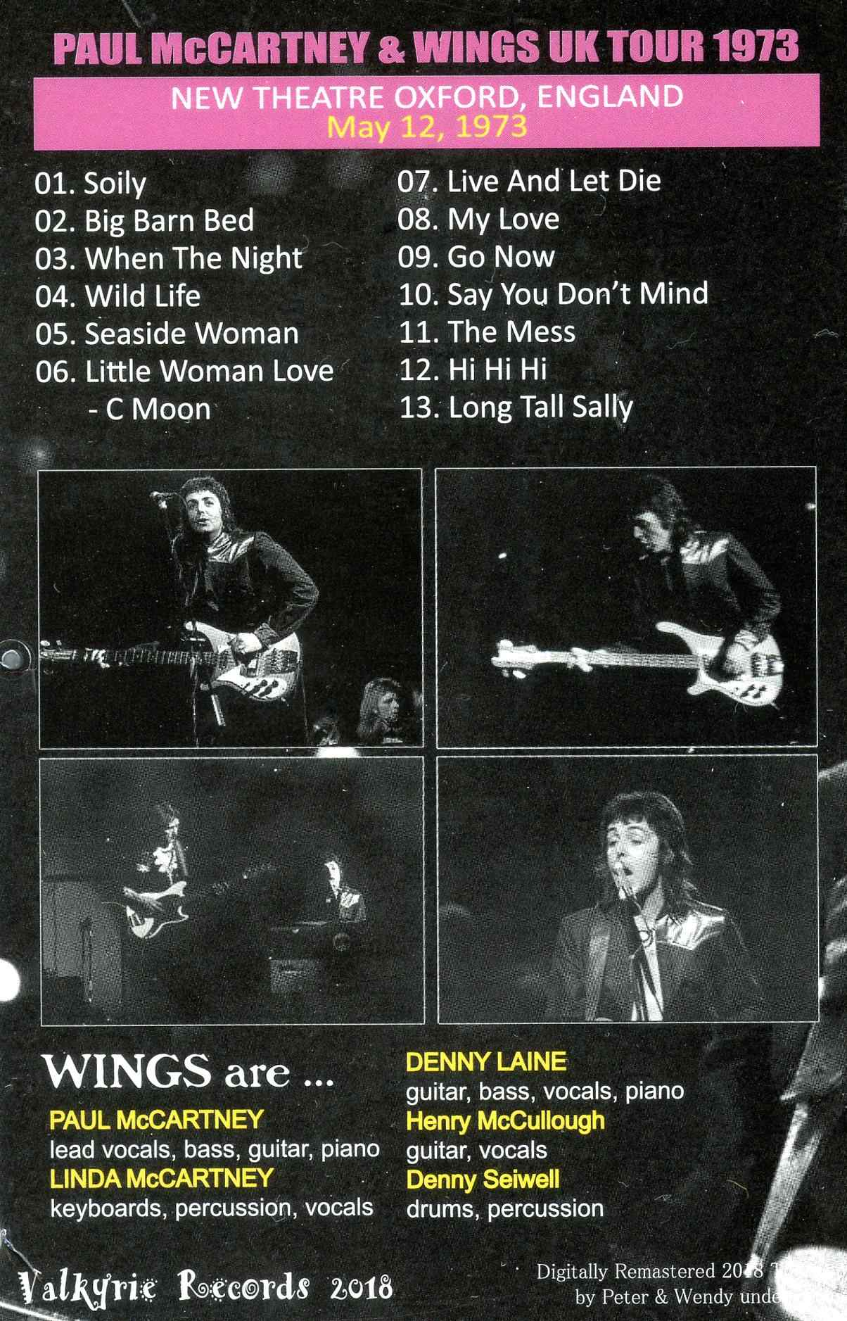 Paul McCartney & Wings – Live in Oxford 1973 – Valkyrie