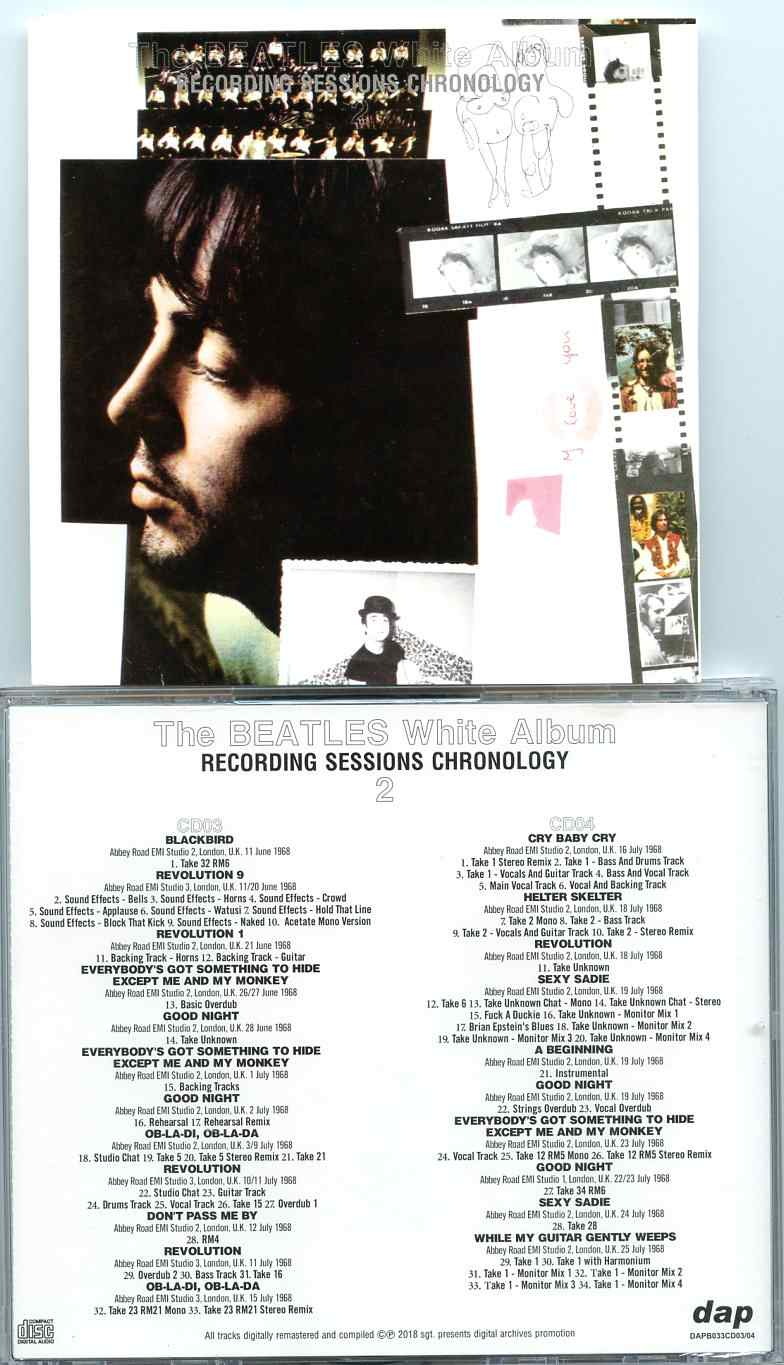 The Beatles – White Album – Recording Sessions Chronology Vol  2 (2 CD)
