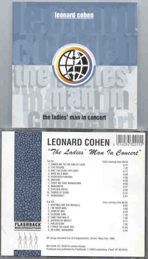 Leonard Cohen - The Ladies Man In Concert ( 2 CD set ) ( Flashback )( Zurich , Switzerland , May 21st , 1993 )