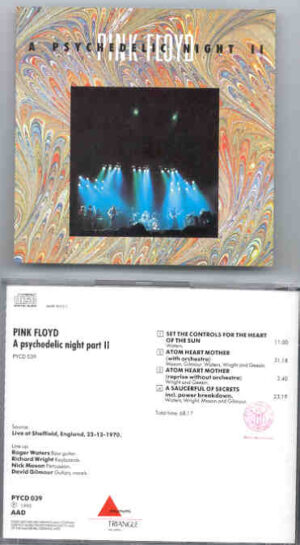 Pink Floyd - A Psychedelic Night  Part Two ( Triangle ) ( Live at Sheffield , England , December 22nd , 1970 )