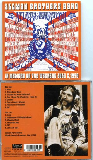 ALLMAN BROTHERS BAND - In Memory Of The Weekend July 3rd ( 2 cd set )( Middle Georgia Raceway , July 3rd , 1970 )