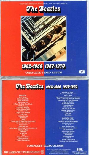 The Beatles - 1962-1966 & 1967-1970 Complete Red And Blue Video Album ( 4 DVD SET ) ( SGT )