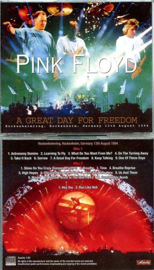 Pink Floyd - A Great Day For Freedom( 3 CD SET ) ( Amity ) ( Hockenheimring , Hockeyheim , Germany , August 13th , 1994 )