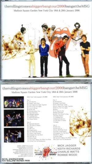 Rolling Stone - Bang At The MSG ( 4 CD SET ) ( Madison Square Garden , New York City , USA , January 18th & 20th , 2006 )