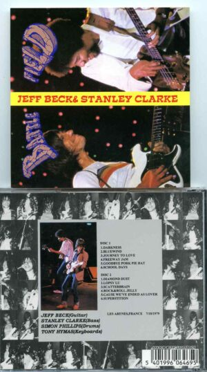 Jeff Beck - Battle Field ( 2 CD SET ) ( With Stanley Clarke Live At Les Arenes ,  Frejus , France , July 10th , 1979 )