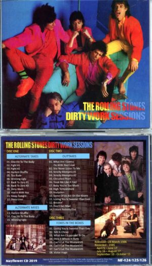Rolling Stone - Dirty Work Sessions 9 ( 3 CD SET ) ( MAYFLOWER )( Dirty Work Studio Sessions Alternates and Outtakes )